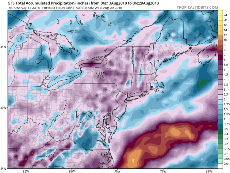 Rainfall next 10-14 days